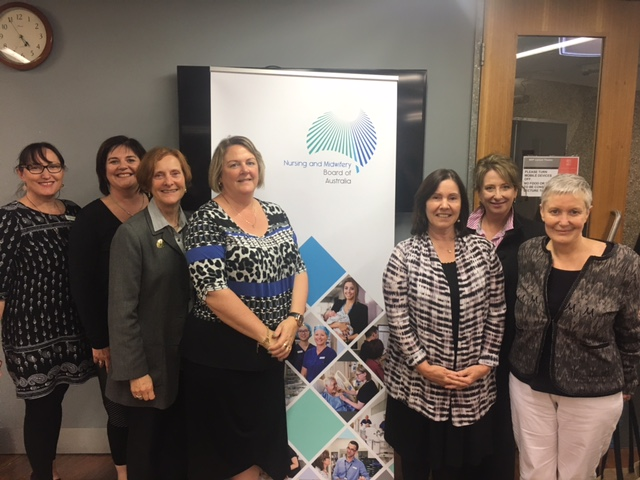 National and Tasmanian NMBA members met with nurses and midwives at  the University of Tasmania, Hobart.