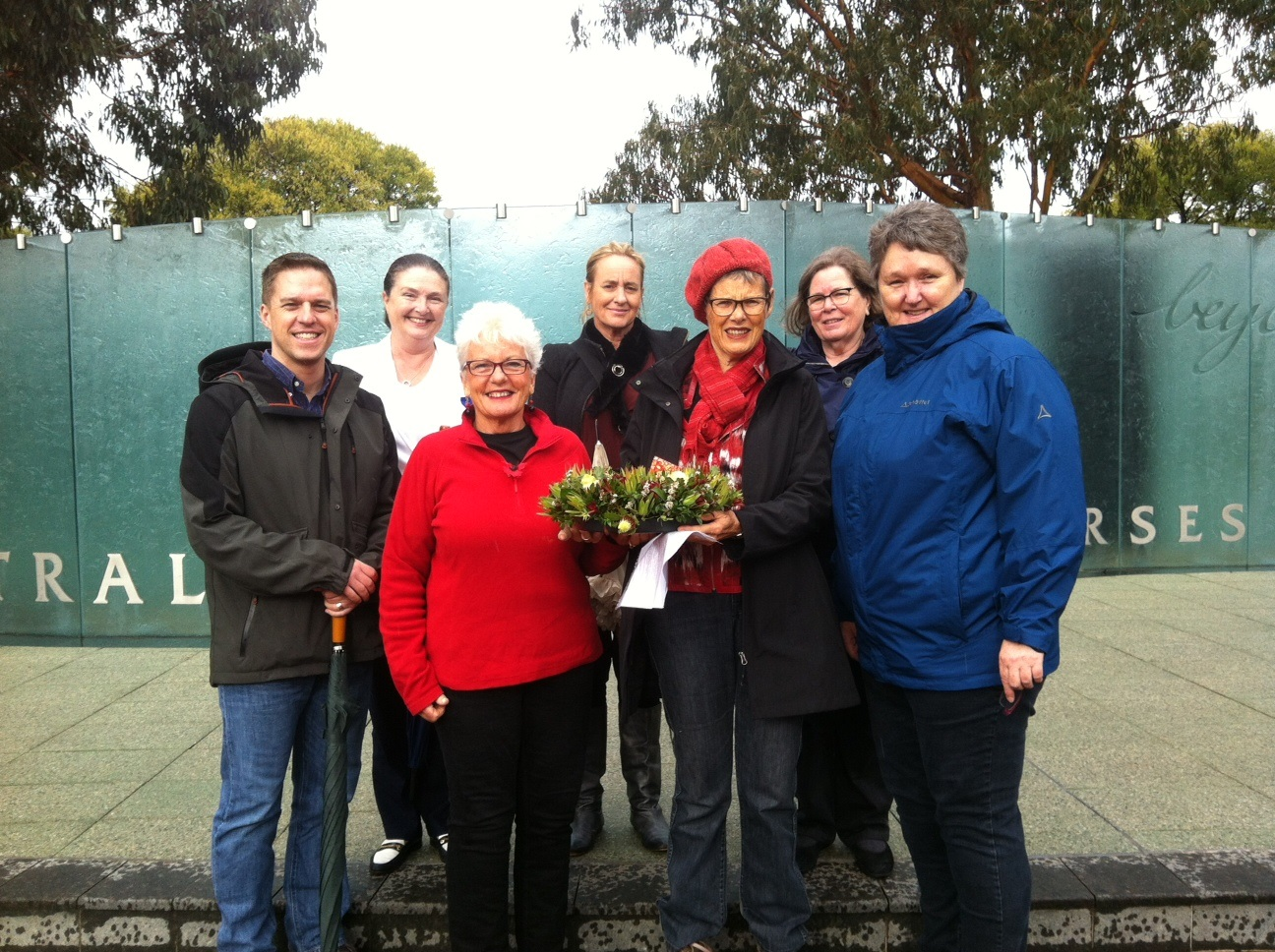 Members of ACT NMBA on Anzac Day at Australian Service Nurses National Memorial in Canberra