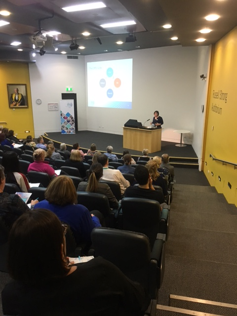 NMBA Executive Officer Tanya Vogt speaking at an information forum held for nurses and midwives at Princess Alexandra Hospital, Brisbane.