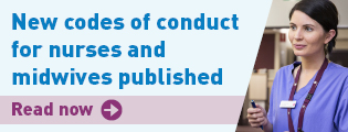 New codes of conduct for nurses and midwives published