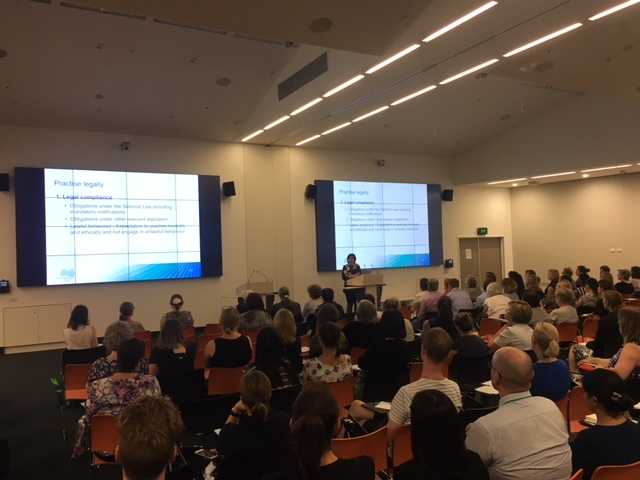 Nurses and midwives attend the NMBA information session at Royal Adelaide Hospital